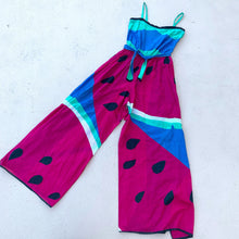 Load image into Gallery viewer, 1970s Watermelon Print Jumpsuit | Elizabeth Arden
