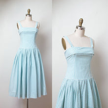 Load image into Gallery viewer, 1980s Laura Ashley Dress / 80s 90s Striped Cotton Sundress