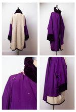 Load image into Gallery viewer, 1920s Purple Velvet Cocoon Coat