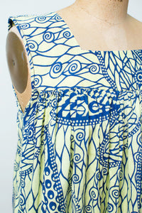 1970s African Printed Cotton Sundress