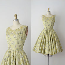 Load image into Gallery viewer, 1950s Brocade Dress / 50s Floral Party Dress