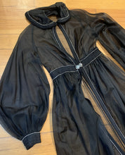 Load image into Gallery viewer, 1960s Sheer Black Evening Dress/Jacket