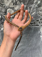 Load image into Gallery viewer, Bead Crochet Snake Necklace | Iridescent Antique Blue