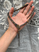 Load image into Gallery viewer, Reserved Custom Bead Crochet Snake Necklace | Antique  Steel Cut Beads