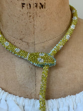 Load image into Gallery viewer, Reserved Custom Beaded Snake Chartreuse
