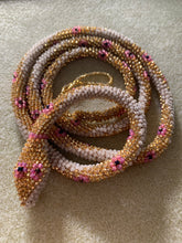 Load image into Gallery viewer, Custom Bead Crochet Snake Double Length
