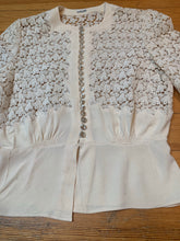 Load image into Gallery viewer, 1930s Cream Crochet Blouse | FOGA