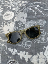 Load image into Gallery viewer, 1980s Gold Glitter Sunglasses
