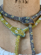 Load image into Gallery viewer, Reserved Custom Bead Crochet Snake Necklace
