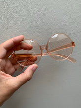 Load image into Gallery viewer, 1960s Round Translucent Sunglasses | Rose