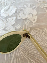 Load image into Gallery viewer, SALE 1950s Pearlized Sunglasses w Flower Accents