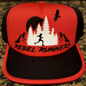 Soft Mesh Tech Running Hat - Red