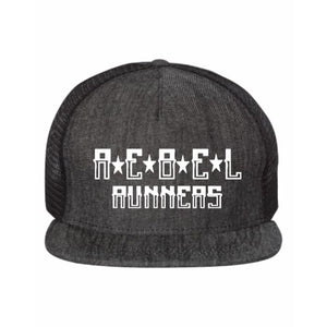 Rebel Flat Bill Five-Panel Trucker Hat