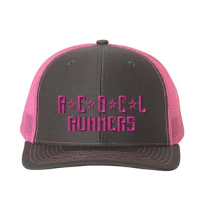 Pink Rebel Snapback 6-Panel Trucker Cap