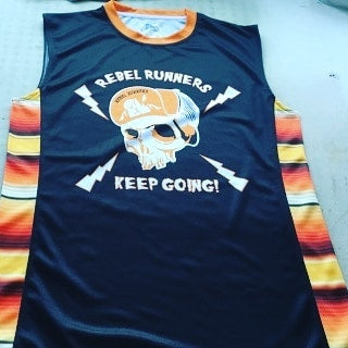 Sweeney Orange Serape Singlet