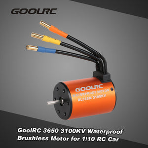 GoolRC 3650 3100KV Waterproof Brushless Motor for 1/10 RC Car HSP 94123 HuanQi 727 FS Racing 53625/53632