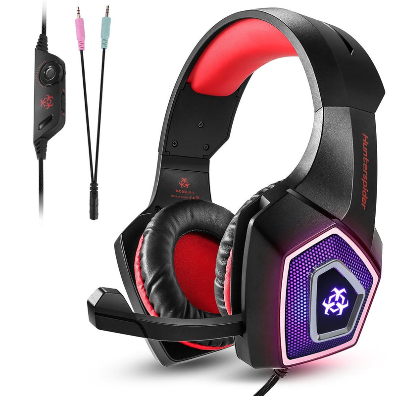 V1 Gaming Headset PS4 Computer Game  Headphones with LED Light