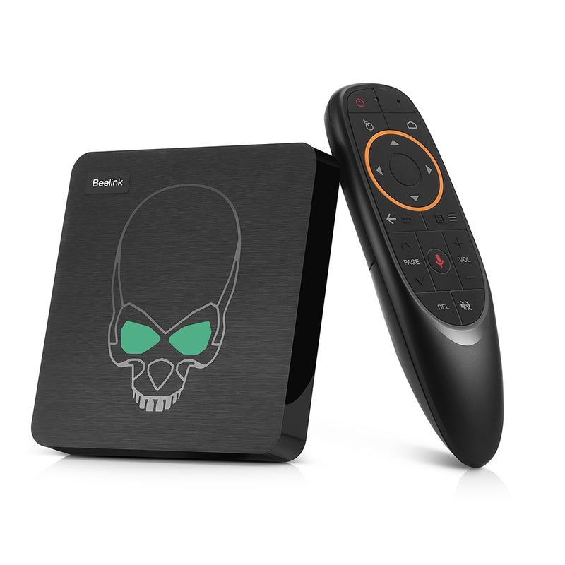Beelink GT - King Most Power TV Box Amlogic S922X Android 9.0 4GB DDR4 + 64GB ROM Support 2.4G Voice Remote Control 4K 60fps 2.4G + 5.8G WiFi 1000Mbps 2 x USB3.0