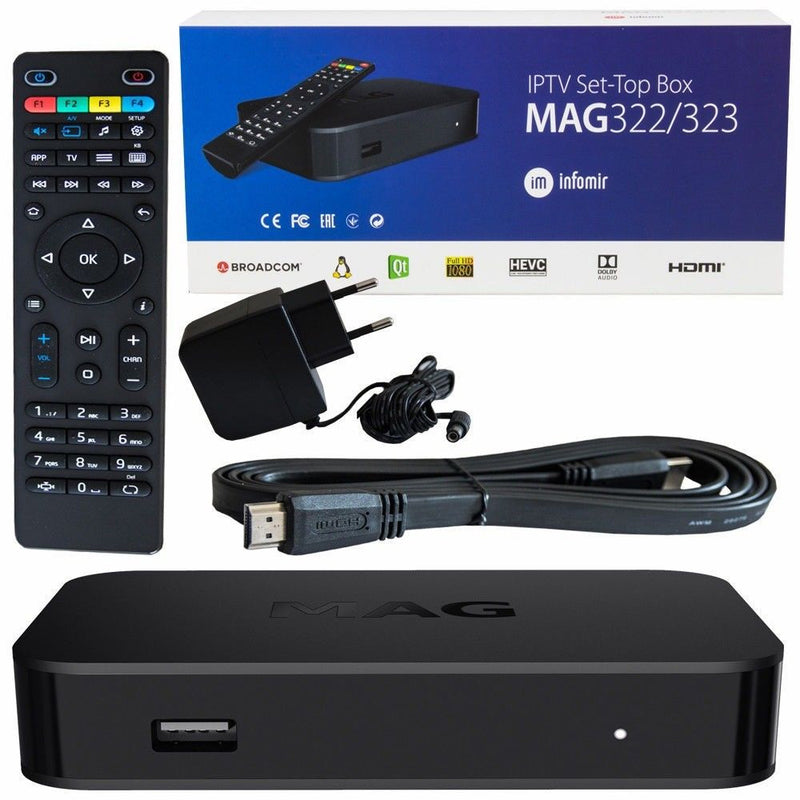 MAG 322 HEVC IPTV Set Top Box Latest Model Genuine
