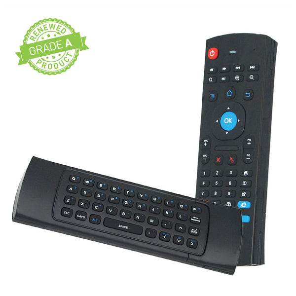 MX3 Air Remote Control, 2.4G Mini Wireless Keyboard Mouse (Refurbished)
