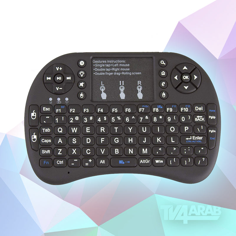 I8 Mini 2.4Ghz Wireless Touchpad Keyboard With Mouse (Refurbished)