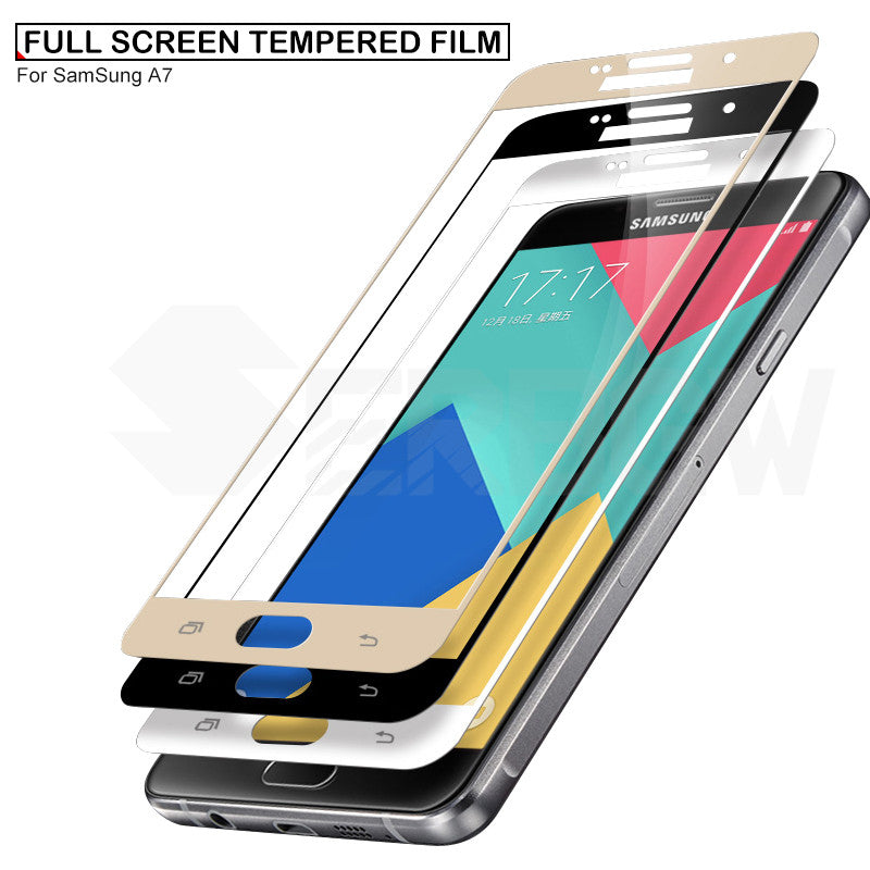 Protective Glass For Samsung A5 A7 A3 2017 J3 J5 J7 2016 2017 Tempered Glass For Samsung S7 Screen Protector Film Case