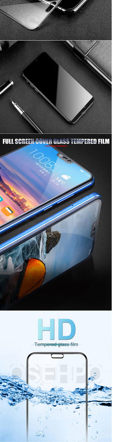 3D Full Cover Tempered Glass For Huawei P20 Lite Pro Screen Protector for Honor 10 9 8 Lite 8X 8C 8A Glass Protective Film