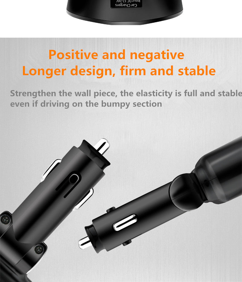 4 IN 1 USB Car Charger Car Cigarette Lighter Socket Splitter Plug 3.1A USB Car-Charger 90W Detection For Phone MP3 DVR