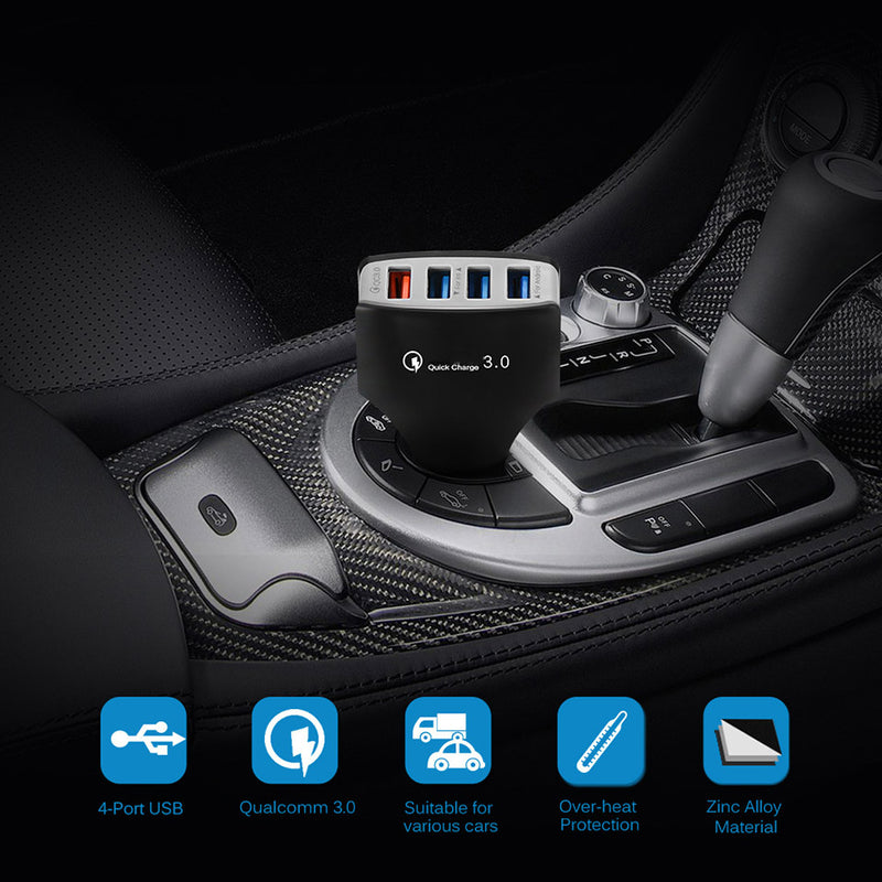 Car USB Charger Qc 3.0 2.0 Auto Multi USB Qi Fast Charger Quick Charge Mobile Phone Car Charger for iPhone Samsung