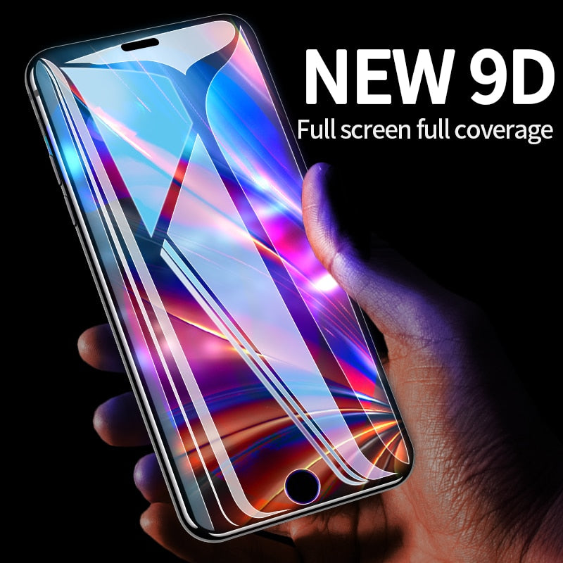 Protective Tempered Glass For iPhone X iPhone 7  XR XsMAX 6 6s 6sPlus 7Plus 8Plus HD Transparent Full Screen Protector