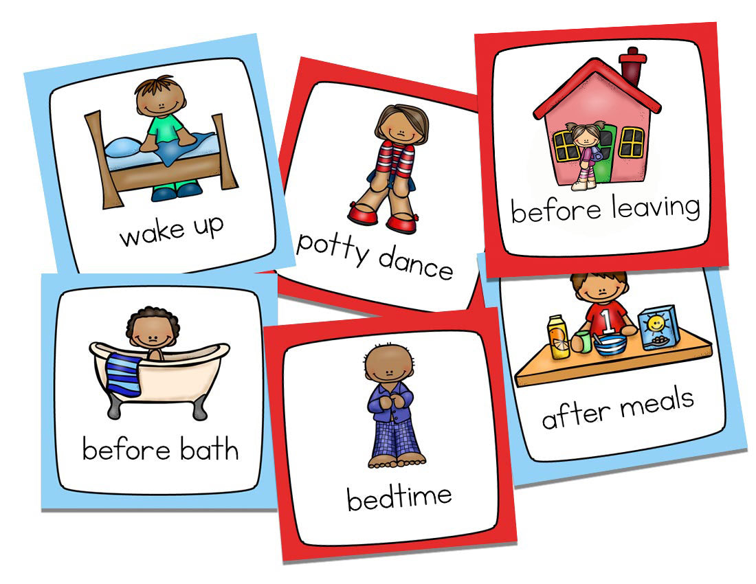 Potty Training Visual Schedule Kit