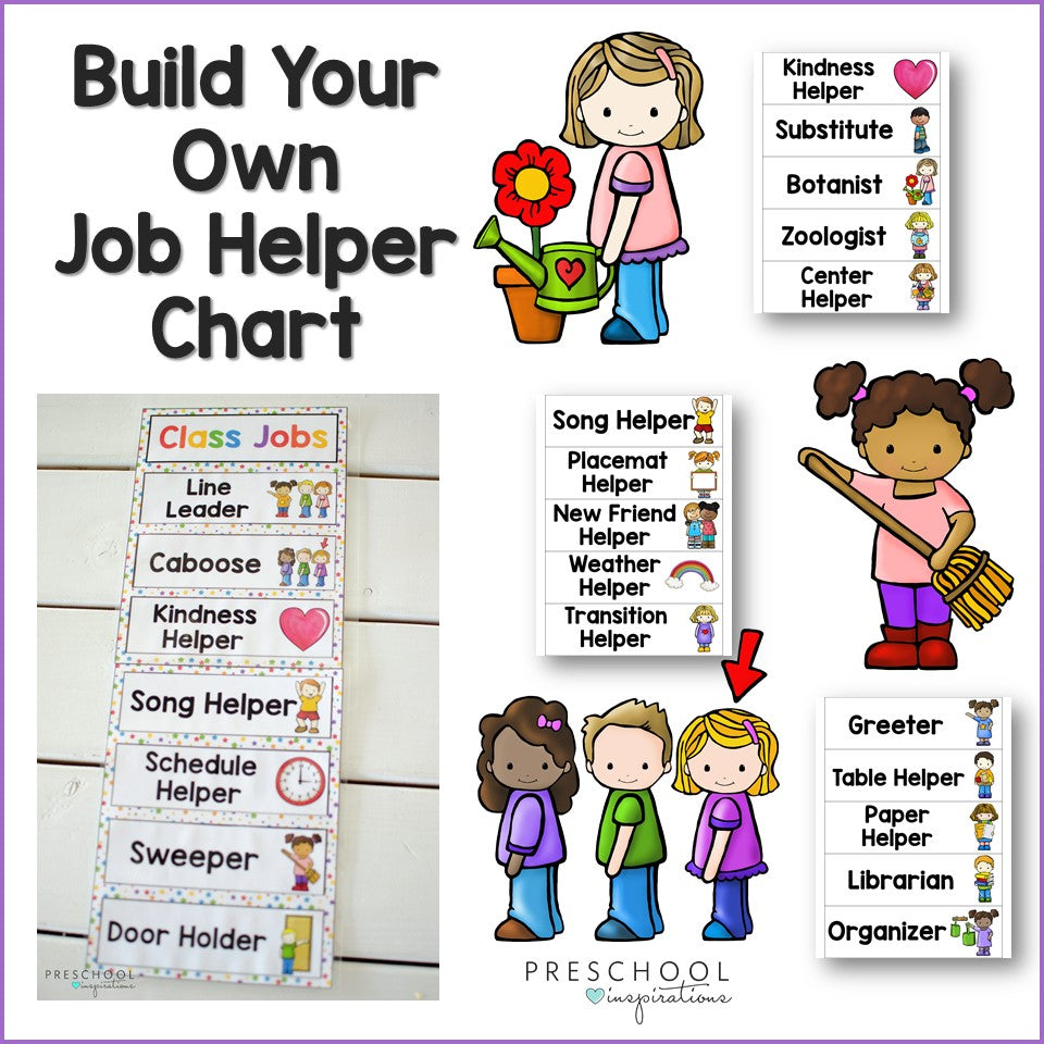 Classroom Jobs Chart -- Editable and Customizeable