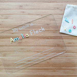 Personalised 'My Name Is' Tracing Board