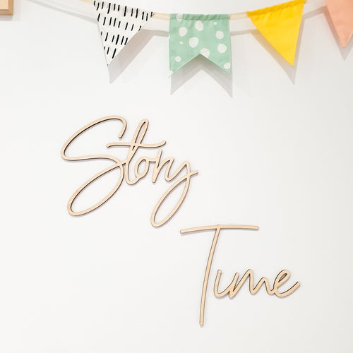 Story Time Wooden Script Wall Sign