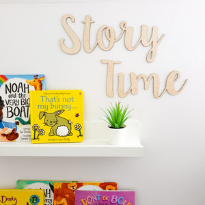 Story Time Wooden Wall Sign
