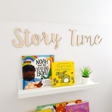 Load image into Gallery viewer, Story Time Wooden Wall Sign