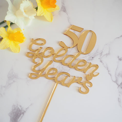 50 Golden Years Cake Topper