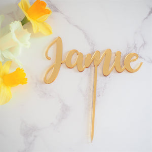 Personalised Name Birthday Cake Topper