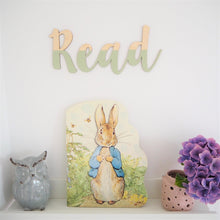 Load image into Gallery viewer, Painted Wooden Read Wall Lettering