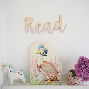 Painted Wooden Read Wall Lettering