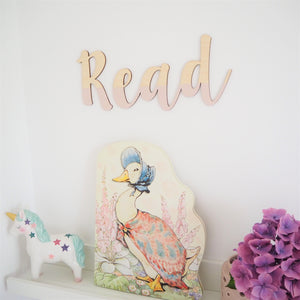 Wooden Painted Read Wall Lettering