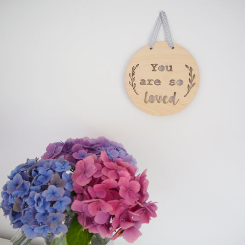 You Are So Loved Wooden Wall Hanging