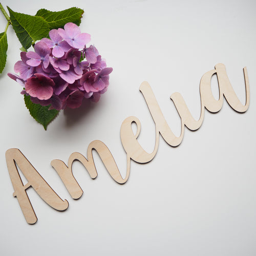XL Personalised Wooden Name Wall Lettering / Text / Word Plaque / Bedroom / Nursery Decor / Playroom / Home / Scandi Style/Natural/Door Sign