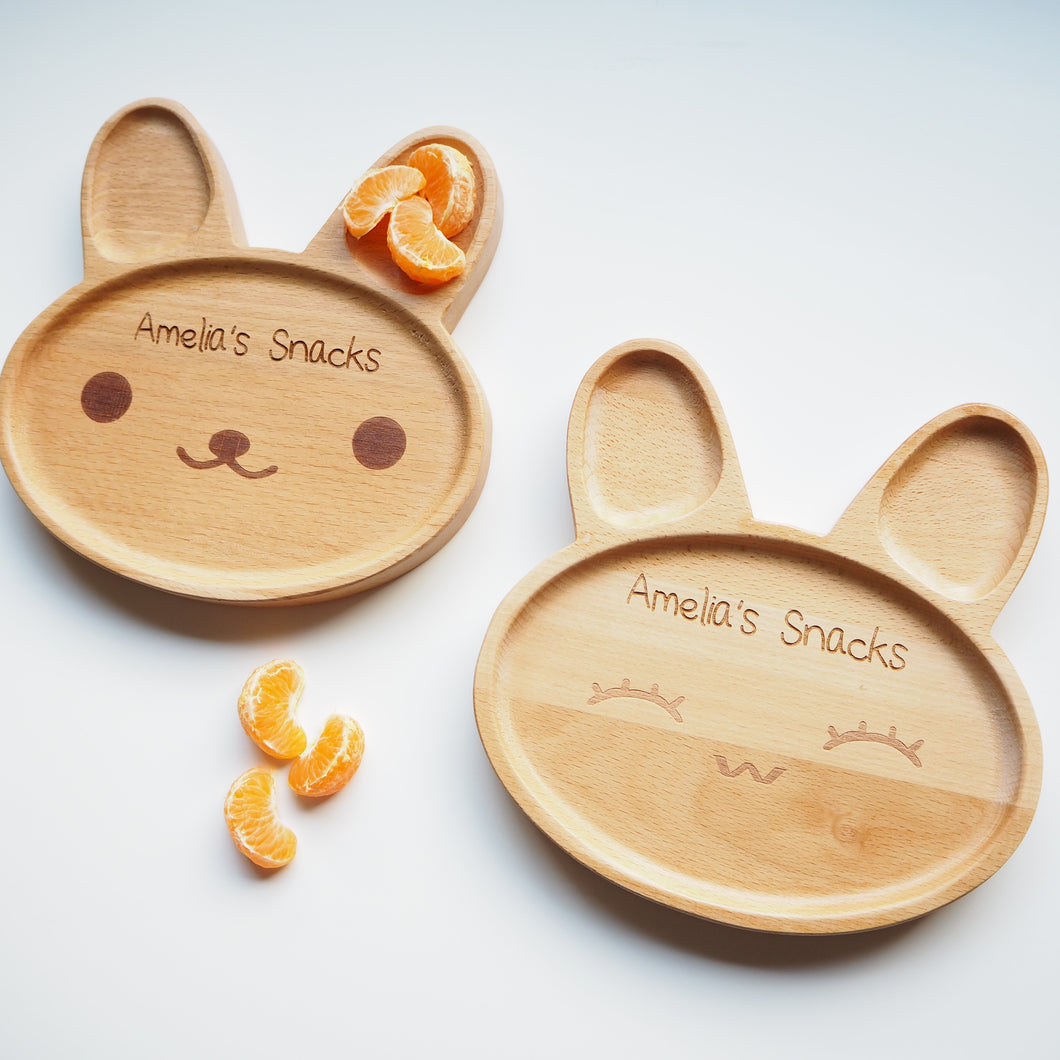Personalised Bunny Snack Plate