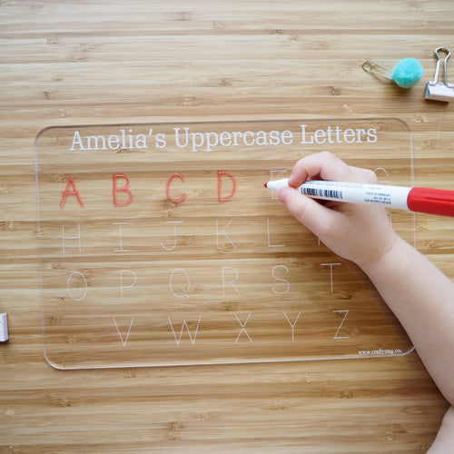 Personalised Uppercase Alphabet Tracing Board