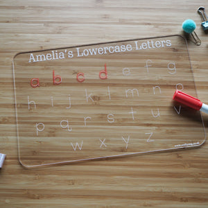 Personalised Lowercase Alphabet Tracing Board