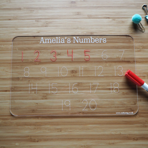 Personalised Number Tracing Board