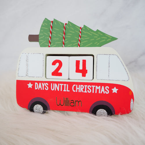 Personalised Campervan Countdown To Christmas
