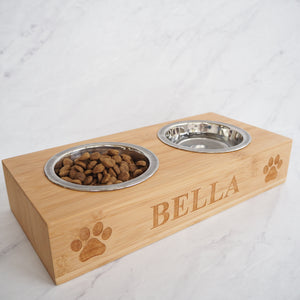 Personalised Dog & Cat Double Feeding Bowl
