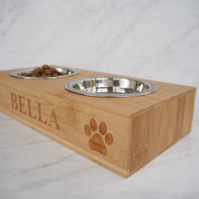 Load image into Gallery viewer, Personalised Dog & Cat Double Feeding Bowl